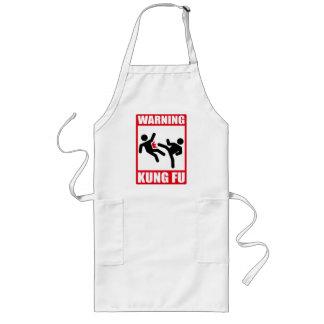 warning kung fu long apron