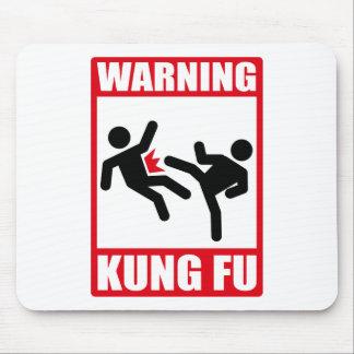 warning kung fu mouse pad