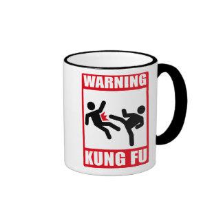 warning kung fu ringer mug