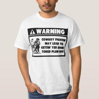 Warning Label for Cowboy Fighting Shirt