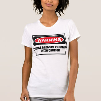 Warning LARGE BREASTS PROCEED WITH CAUTION Women's T-Shirt