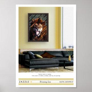 """Warning lion"" presentation Print"