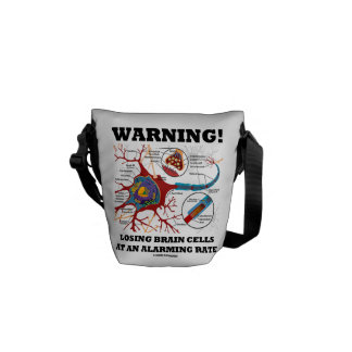 Warning! Losing Brain Cells At An Alarming Rate Courier Bag
