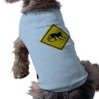 Warning Macaques, Traffic Sign, Malaysia Pet T-shirt