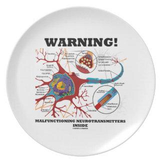 Warning! Malfunctioning Neurotransmitters Inside Plate