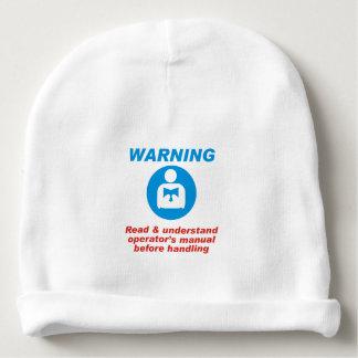 Warning Manual Baby Beanie