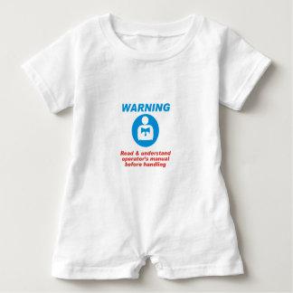 Warning Manual Baby Romper