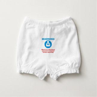 Warning Manual Diaper Cover