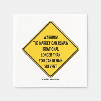 Warning! Market Can Remain Irrational Longer Than Paper Napkins