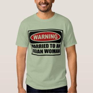 Warning MARRIED TO AN ASIAN WOMAN Men's T-Shirt