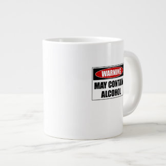 Warning May Contain Alcohol Giant Coffee Mug