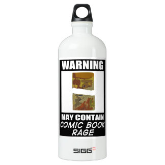 Warning May Contain Comic Book Rage Aluminum Water Bottle