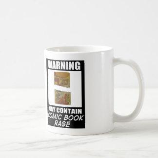 Warning May Contain Comic Book Rage Coffee Mug
