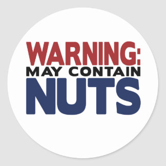 WARNING MAY CONTAIN NUTS Sticker
