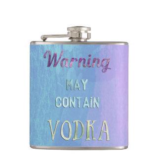 Warning May Contain Vodka Watercolor Flasks