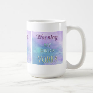 Warning May Contain Vodka Watercolor Classic White Coffee Mug