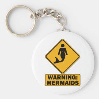 Warning: Mermaids Keychain