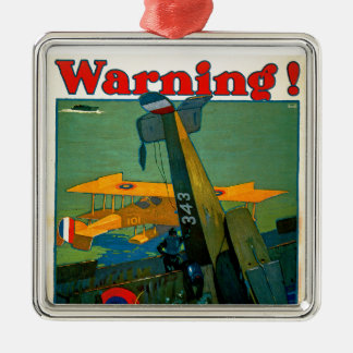 Warning! Metal Ornament