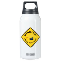 Warning! Meteor Zone Ahead (Diamond Yellow Sign) 10 Oz Insulated SIGG Thermos Water Bottle