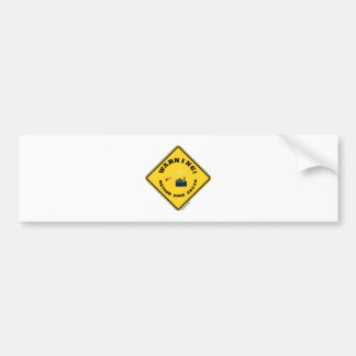 Warning! Meteor Zone Ahead (Diamond Yellow Sign) Bumper Sticker