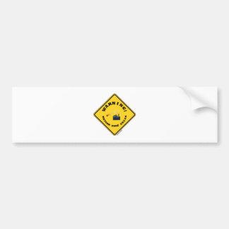 Warning! Meteor Zone Ahead (Diamond Yellow Sign) Car Bumper Sticker