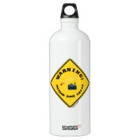 Warning! Meteor Zone Ahead (Diamond Yellow Sign) SIGG Traveler 1.0L Water Bottle