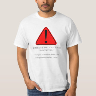 Warning! Methane production... 4 (Front) T-Shirt