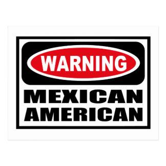 Warning MEXICAN AMERICAN Postcard