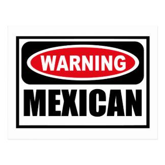 Warning MEXICAN Postcard