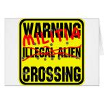Warning Militia Crossing Cards