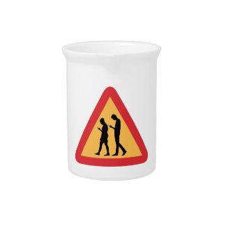 Warning Mobile Zombies, Stockholm, Sweden Beverage Pitcher