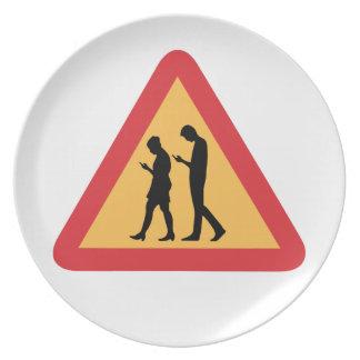 Warning Mobile Zombies, Stockholm, Sweden Dinner Plate
