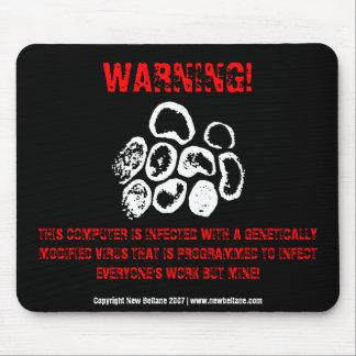 WARNING! MOUSE PAD