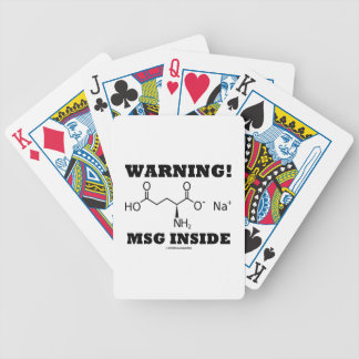Warning! MSG Inside (Chemical Molecule) Bicycle Playing Cards
