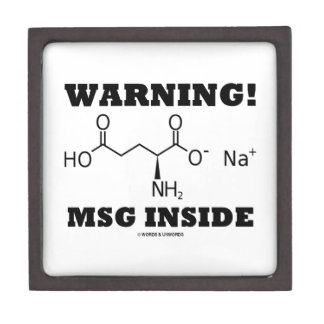 Warning! MSG Inside (Chemical Molecule) Premium Gift Boxes