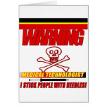 WARNING - MT - I STICK PEOPLE WITH NEEDLES! GREETING CARDS