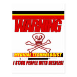 WARNING - MT - I STICK PEOPLE WITH NEEDLES! POSTCARDS