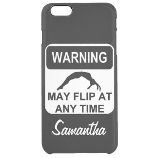 Warning my Flip Gymnast Uncommon Clearly™ Deflector iPhone 6 Plus Case
