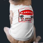 """Warning My Owner is Single T-Shirt<br><div class=""""desc"""">See more Dog Gifts by Sandra</div>"""