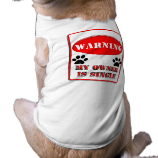 Warning My Owner is Single T-Shirt