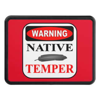 WARNING NATIVE TEMPER 2' HITCH COVER