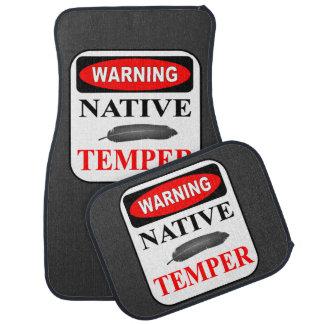 WARNING NATIVE TEMPER CUSTOM FLOOR MATS