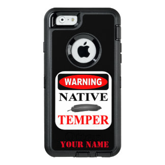 WARNING: NATIVE TEMPER OtterBox iPhone 6/6S CASE