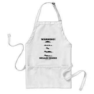 Warning! Nellie Inside (Loch Ness Creature) Adult Apron