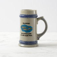 Warning! No Lifeguards In The Gene Pool 18 Oz Beer Stein