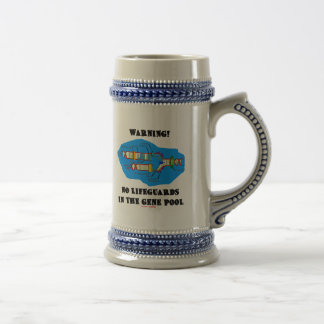 Warning! No Lifeguards In The Gene Pool Beer Stein