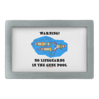 Warning! No Lifeguards In The Gene Pool (DNA) Belt Buckle