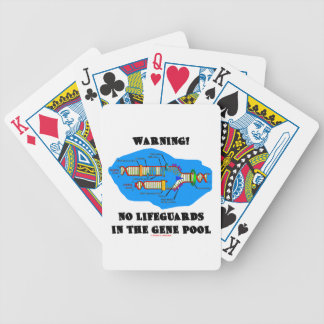 Warning! No Lifeguards In The Gene Pool (DNA) Bicycle Playing Cards