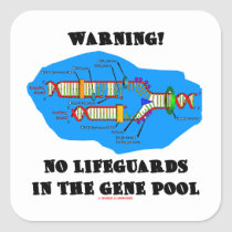 Warning! No Lifeguards In The Gene Pool Stickers