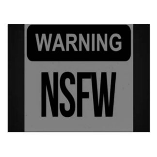 Warning NSFW Postcard